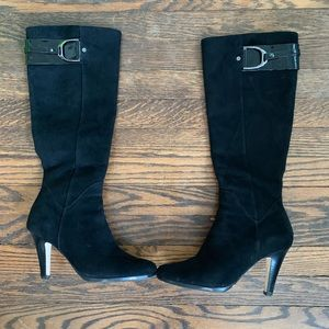 Cole Haan Sierra Air Black Suede Tall Boots